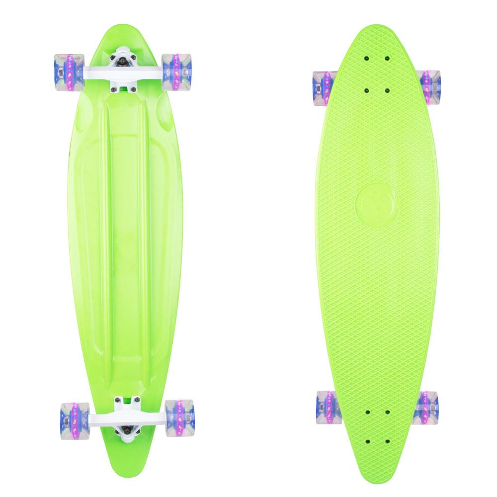 """Plastový longboard WORKER Pike 36"""" se svítícími kolečky zelená"""