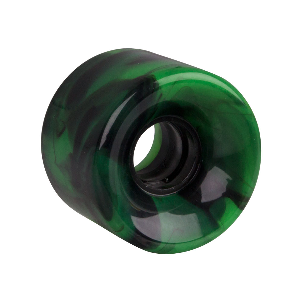 Kolečko na penny board 60*45 mm - žíhané zelená