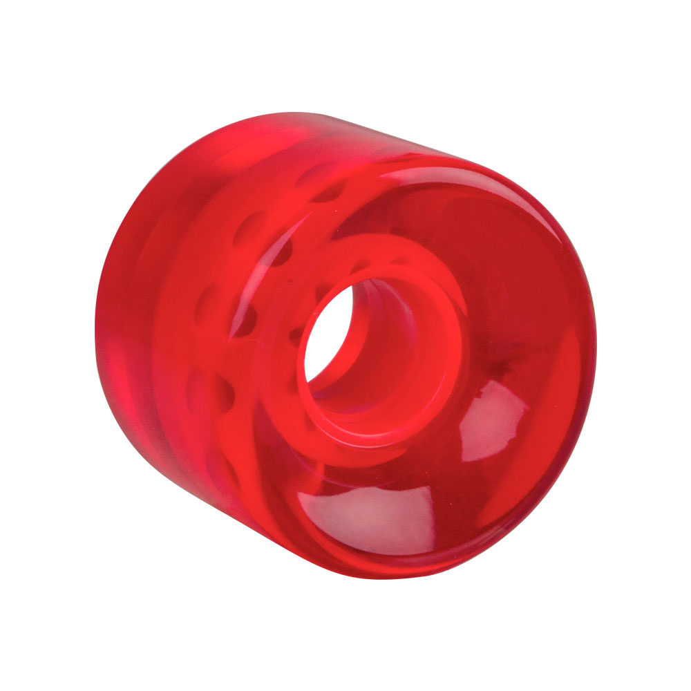 Průhledné kolečko na penny board 60*45 mm červená