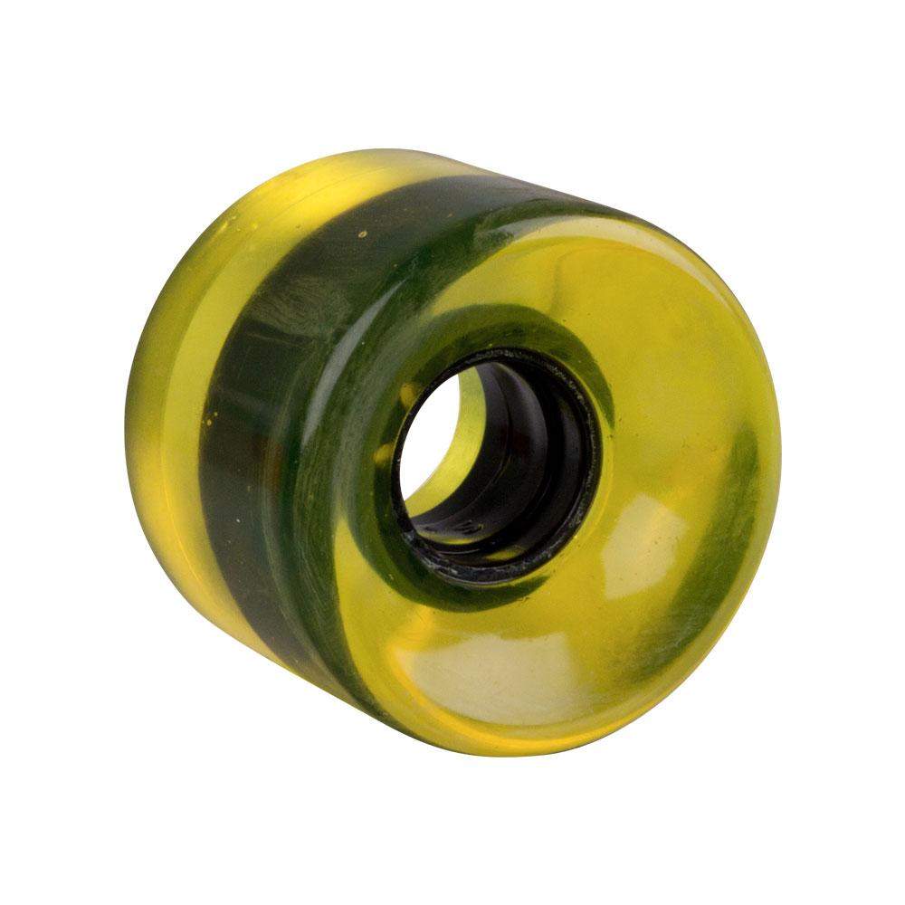 Průhledné kolečko na penny board 60*45 mm žlutá