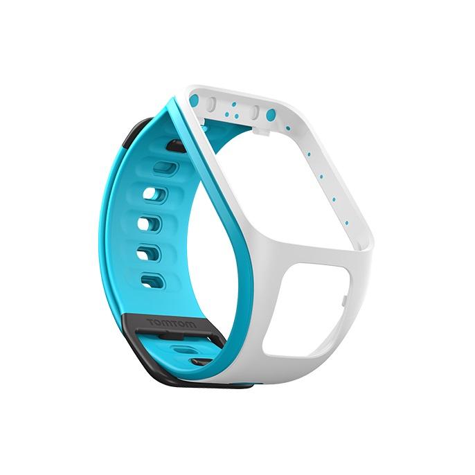Řemínek ke GPS hodinkám TomTom bílá/světle modrá