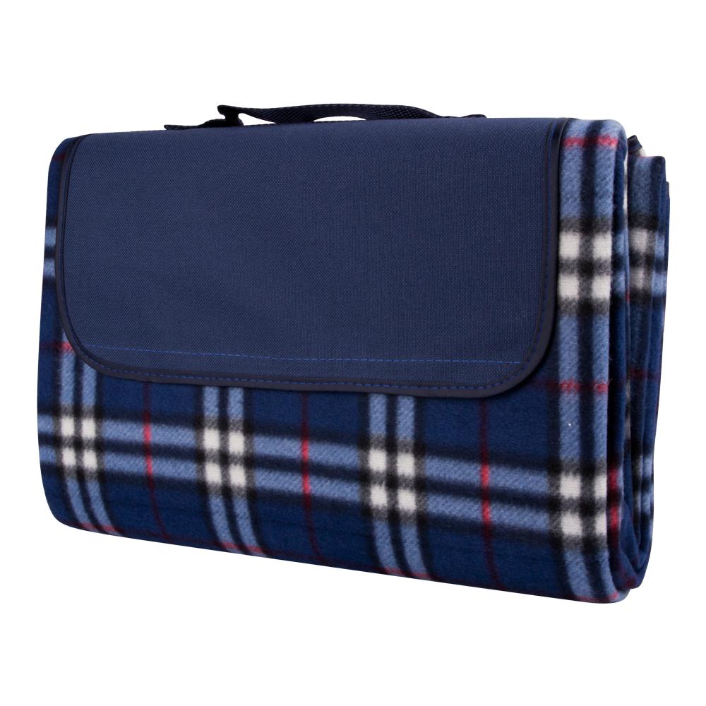 Pikniková deka inSPORTline 130x180 cm modré káro