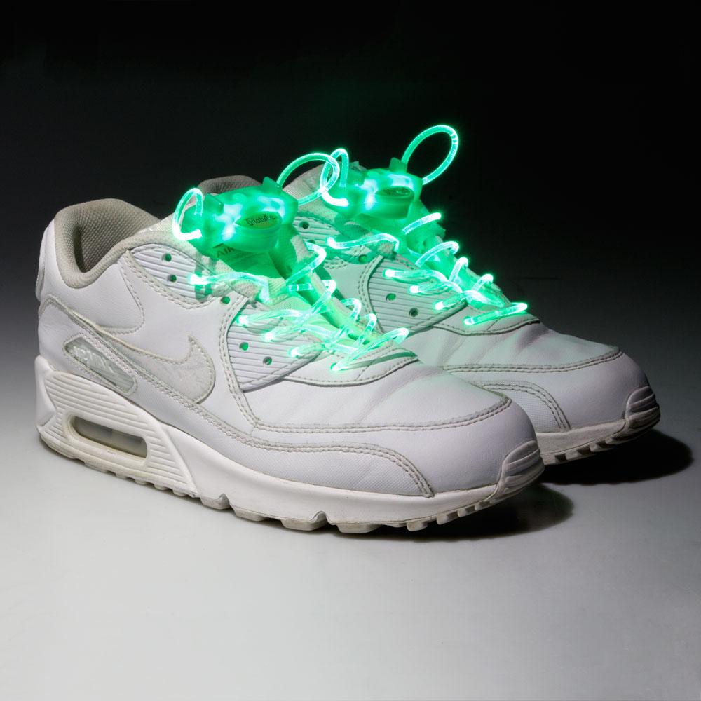 Svítící tkaničky WORKER Platube 100 cm zelená