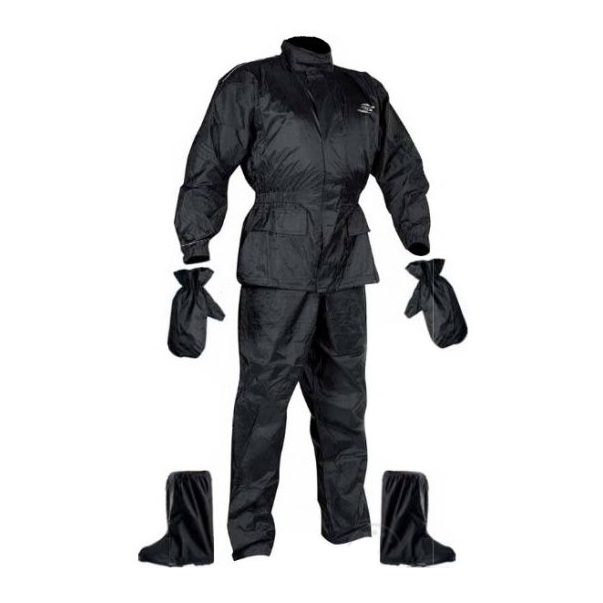 Set Rainpack bunda/kalhoty/rukavice/boty Nox černá - XS