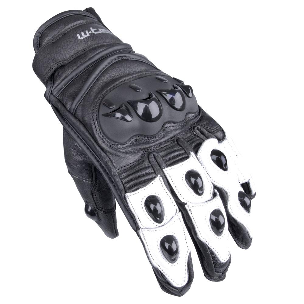 Moto rukavice W-TEC Radoon MBG-1621-16 - černo-bílá - inSPORTline 65b793b3ec