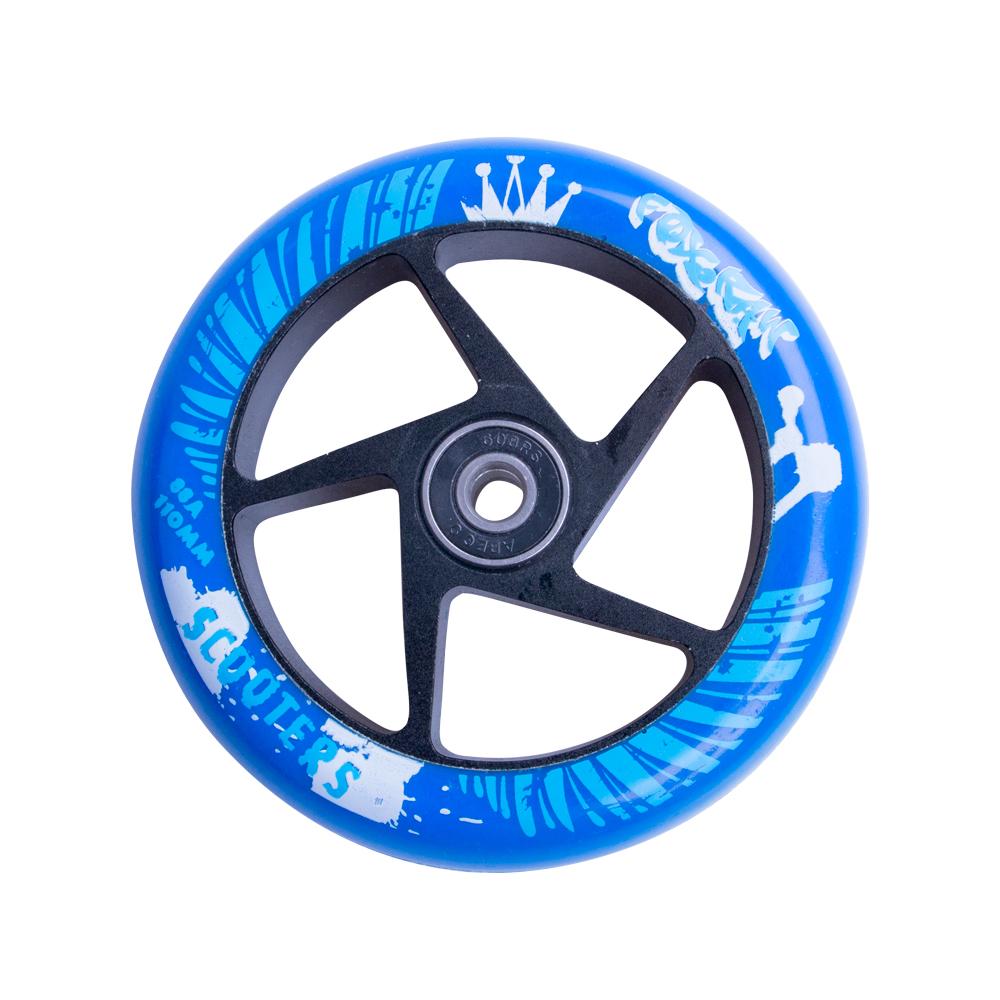 Náhradní kolečko pro koloběžku FOX PRO Raw 110 mm modro-černá