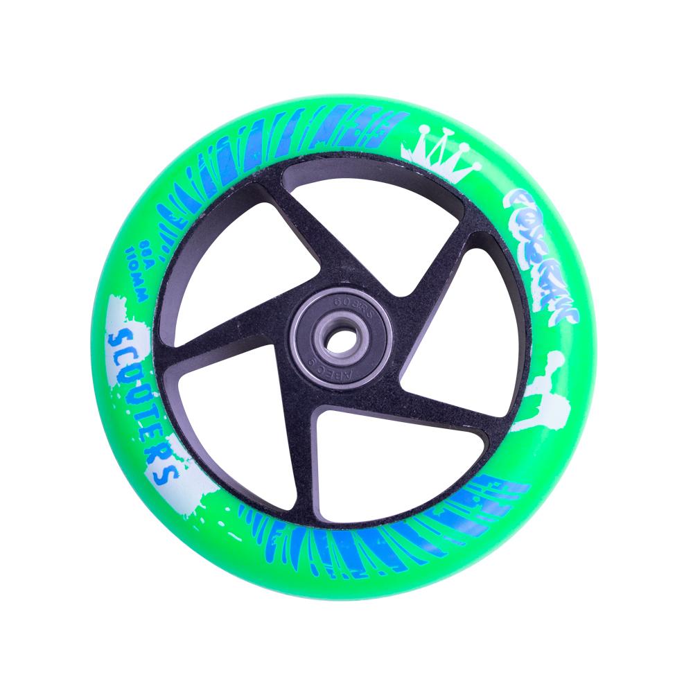 Náhradní kolečko pro koloběžku FOX PRO Raw 110 mm zeleno-černá