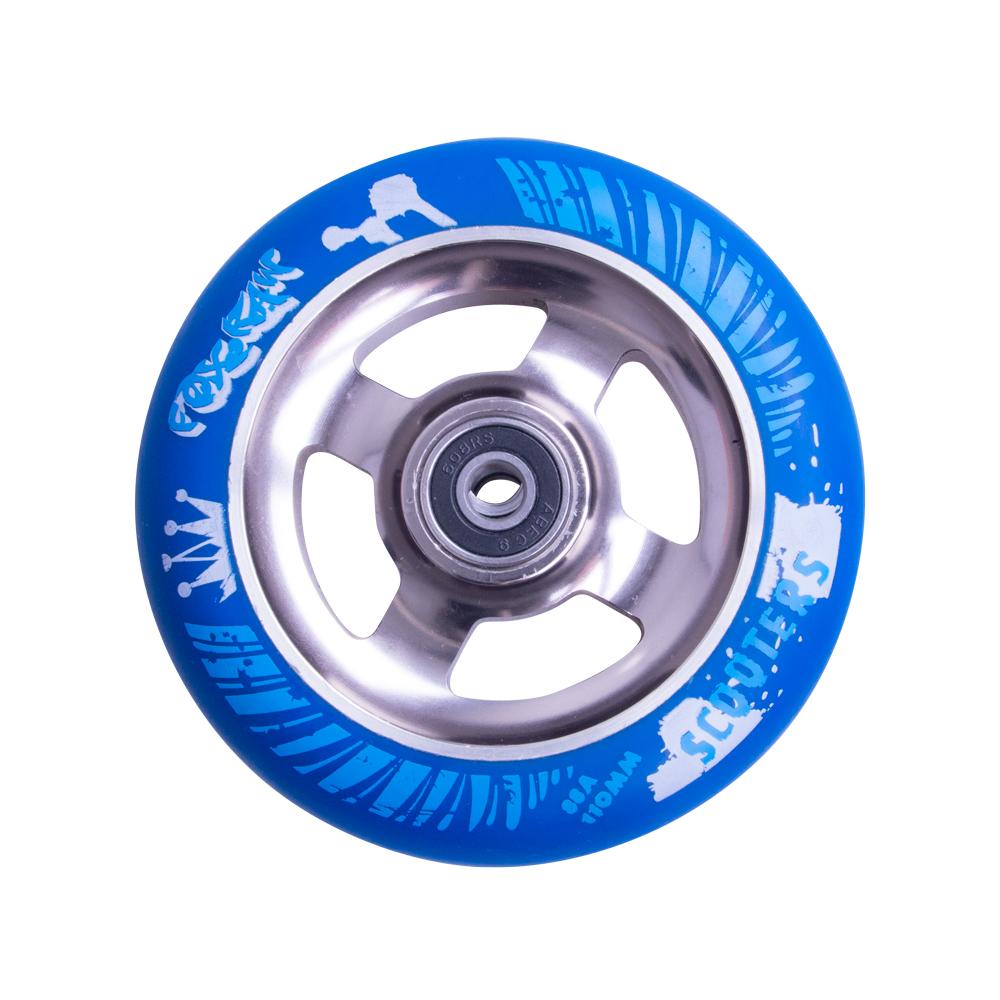 Náhradní kolečko pro koloběžku FOX PRO Raw 110 mm modro-titanová