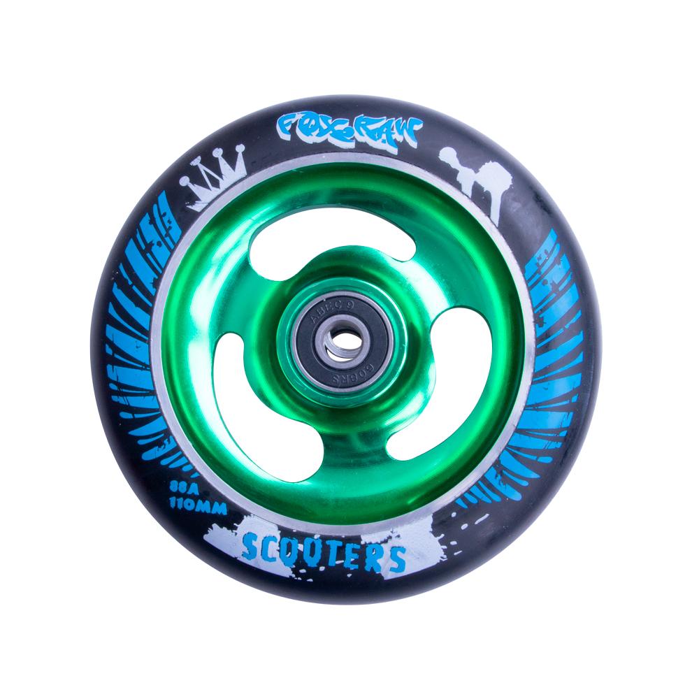 Náhradní kolečko pro koloběžku FOX PRO Raw 110 mm černo-zelená