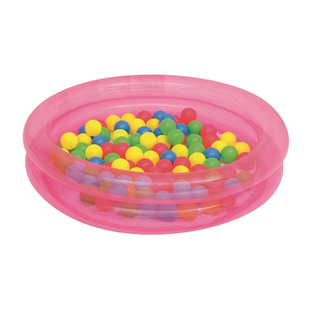 Bazén s míčky Bestway 2-Ring Ball Pool 91 cm růžová