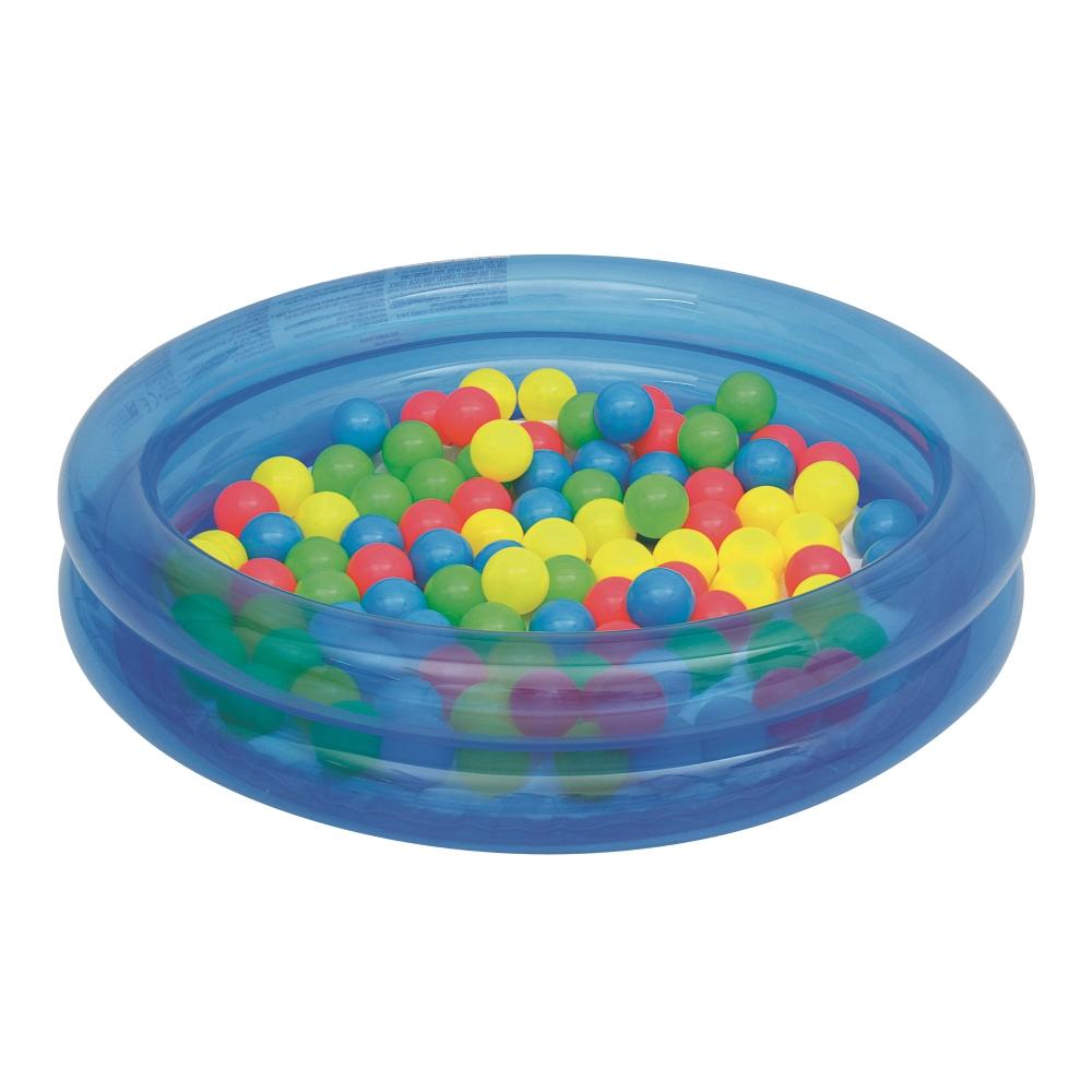 Bazén s míčky Bestway 2-Ring Ball Pool 91 cm modrá