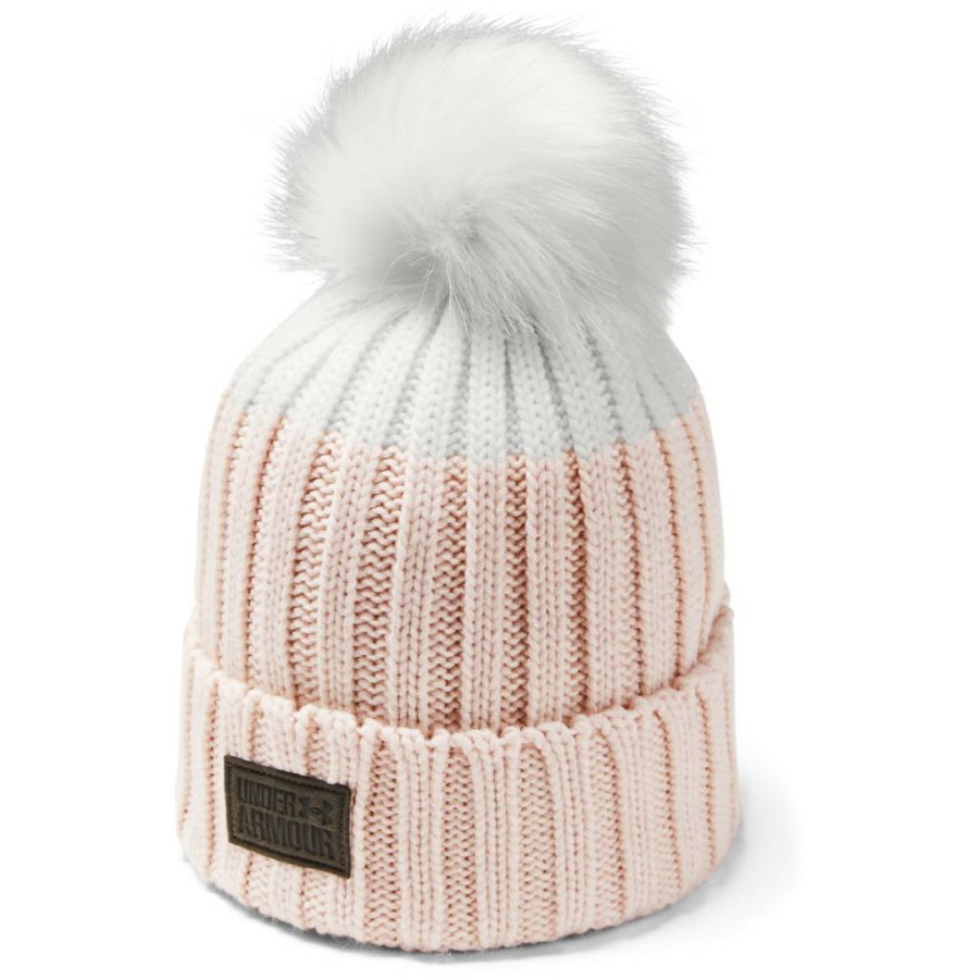 Under Armour Snowcrest Pom Beanie Apex Pink - OSFA