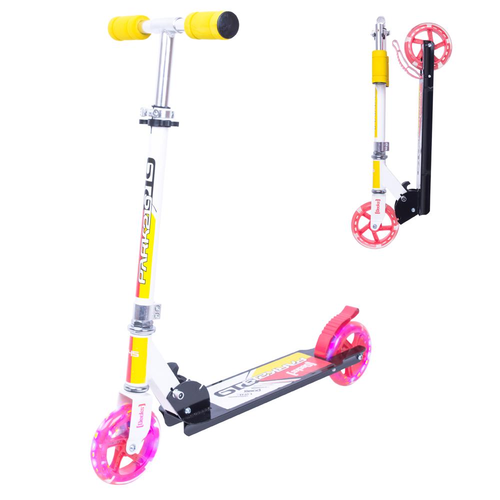Koloběžka WORKER Cirky se svítícími kolečky žlutá