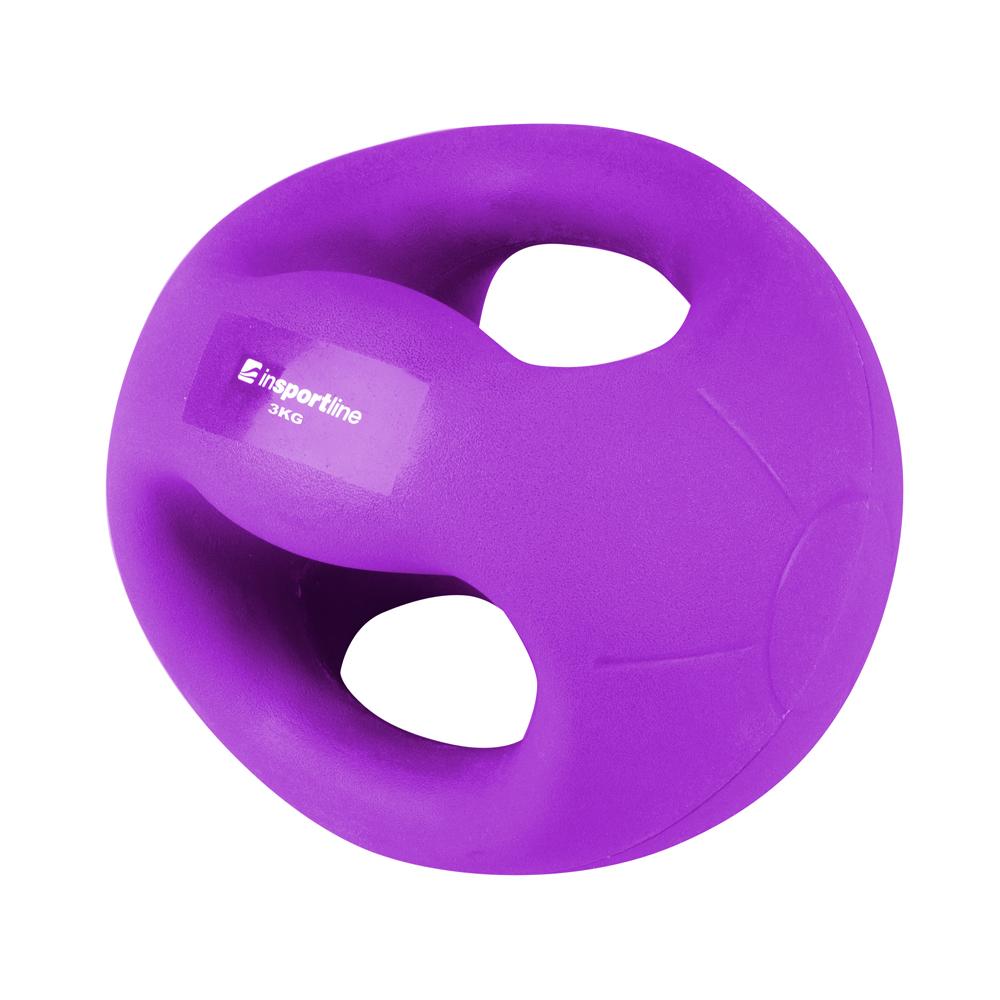 Medicineball s úchopy inSPORTline Grab Me 3 kg