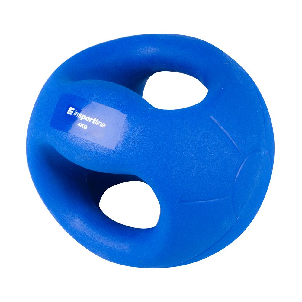 Medicineball s úchopy inSPORTline Grab Me 4 kg