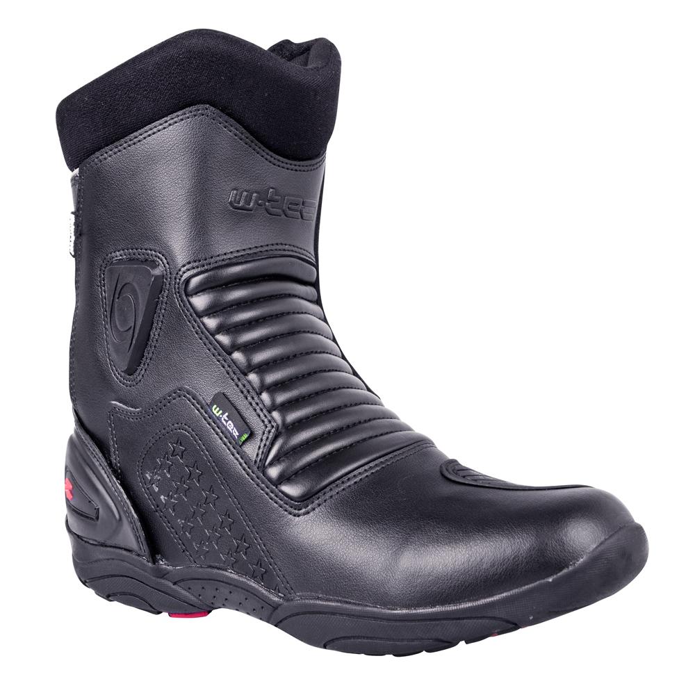 Kožené moto boty W-TEC Benkoff NF-6052 černá - 39