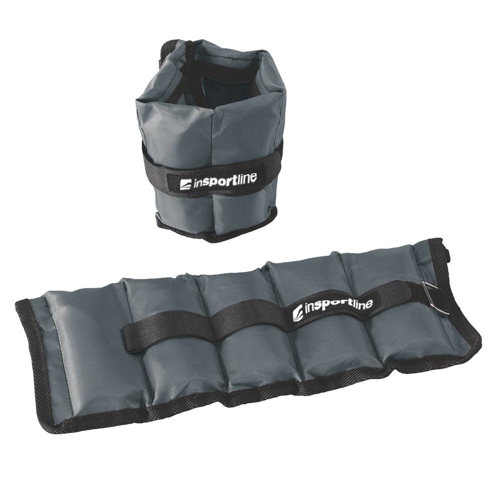 Nastavitelné závaží na kotník a zápěstí inSPORTline GrayWeight 2x1 kg