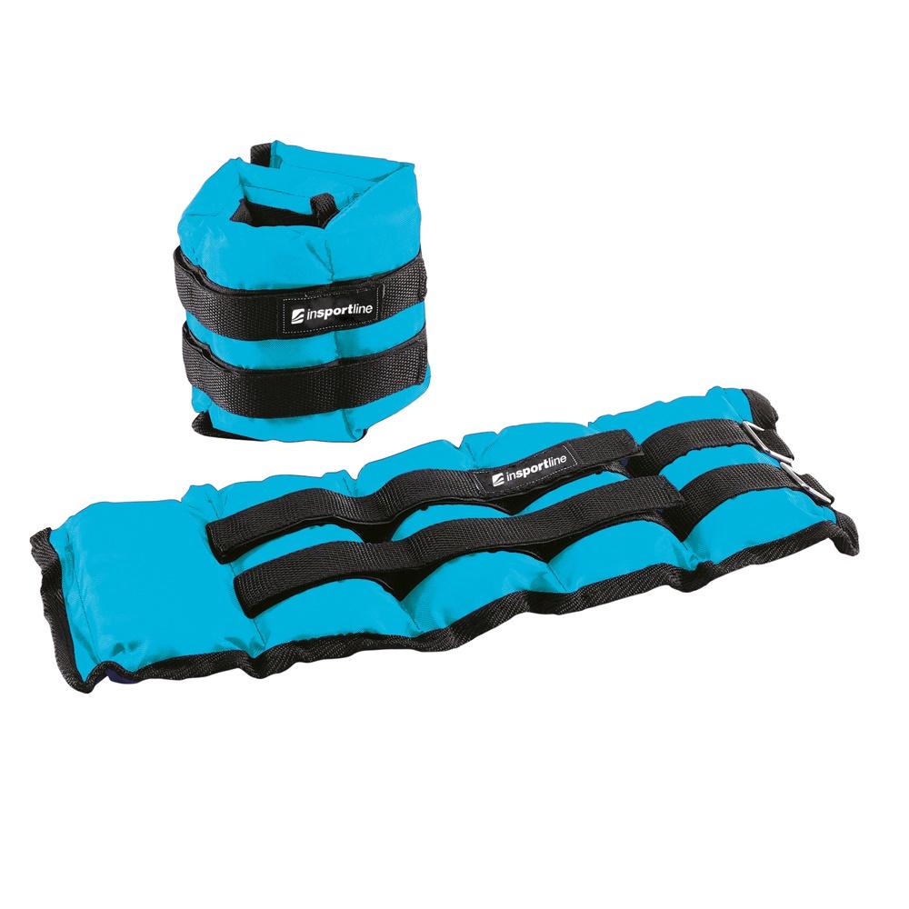 Nastavitelné závaží na kotník a zápěstí inSPORTline BlueWeight 2x2 kg