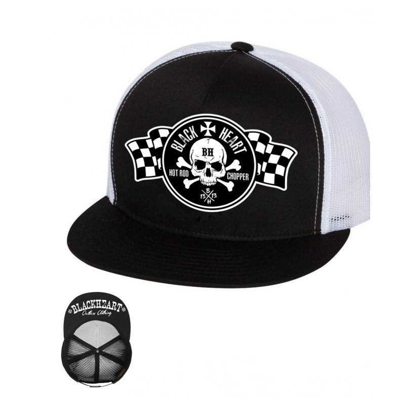 BLACK HEART Start Trucker bílá