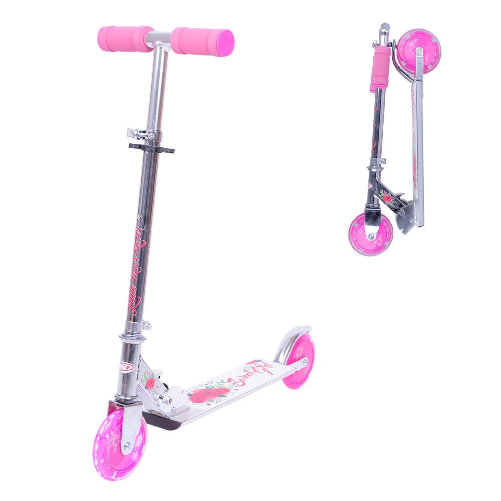 Koloběžka WORKER Racer Sweet Girl se svítícími kolečky