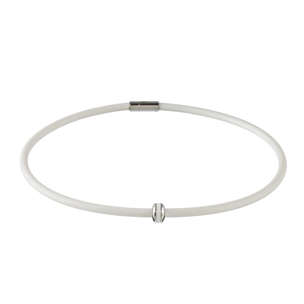 Magnetický náhrdelník inSPORTline Mely bílá - 48 cm