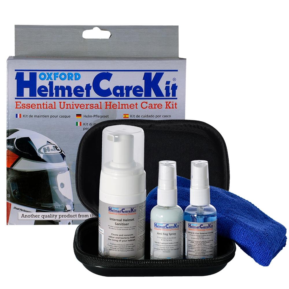 Sada prostředků pro čištění přileb a plexi Oxford Helmet Care Kit