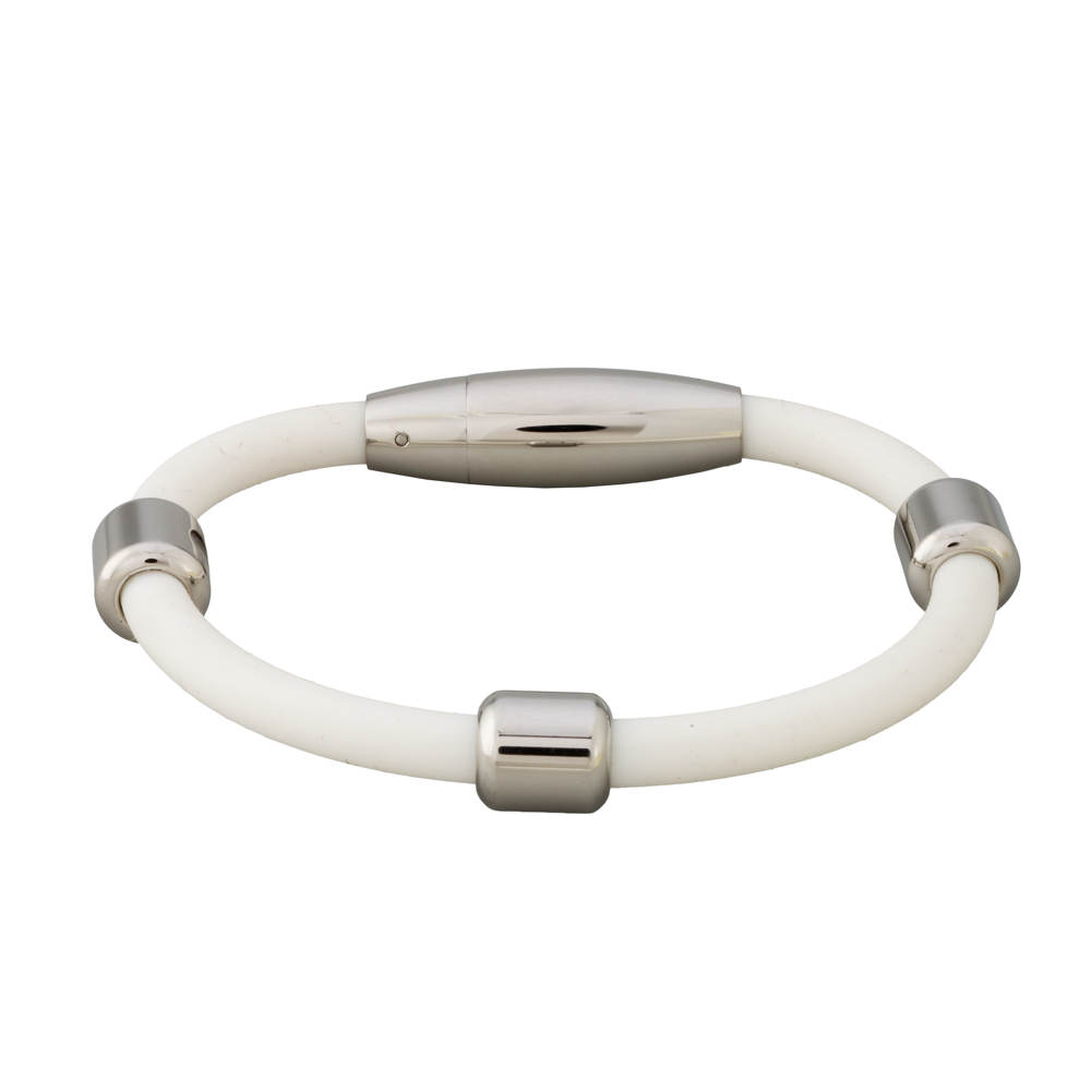 Magnetický náramek inSPORTline Lotara bílá - 18.50 cm