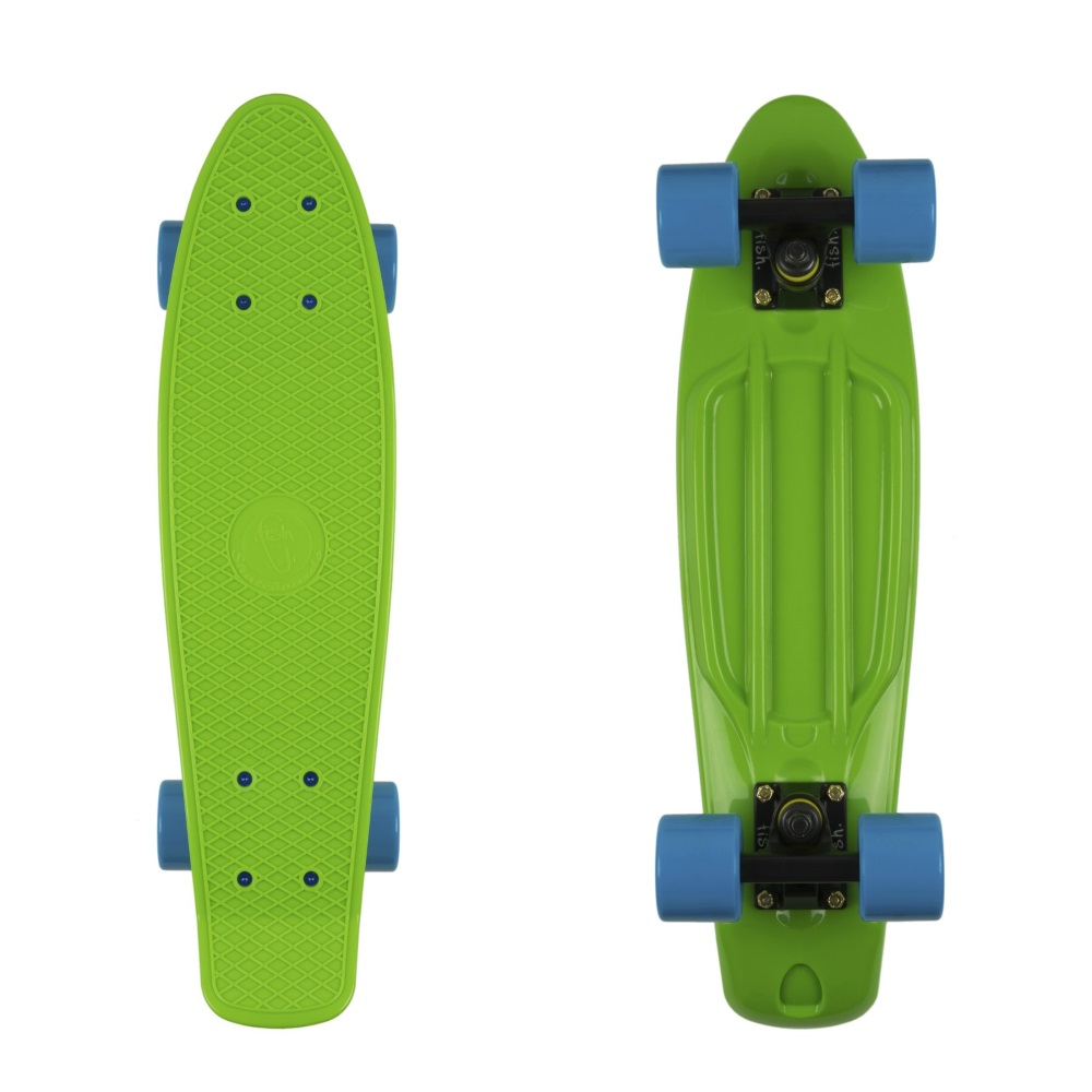 "Penny board Fish Classic 22"" Green-Black-Blue"