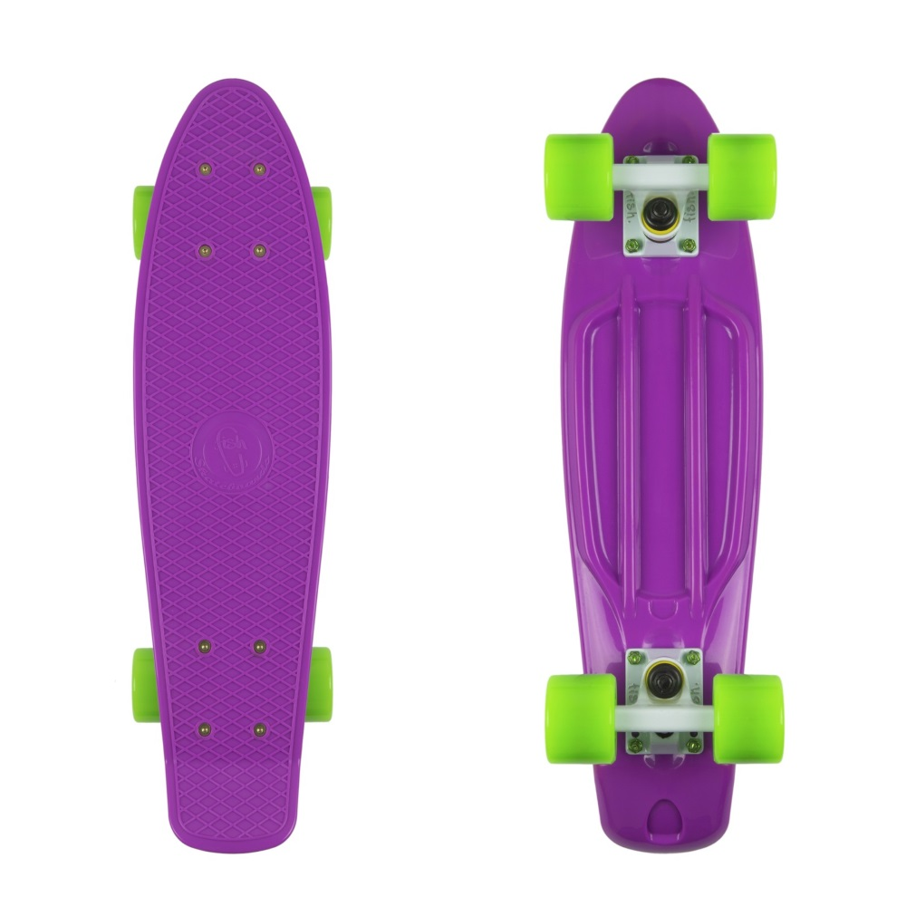 "Penny board Fish Classic 22"" Purple-White-Green"