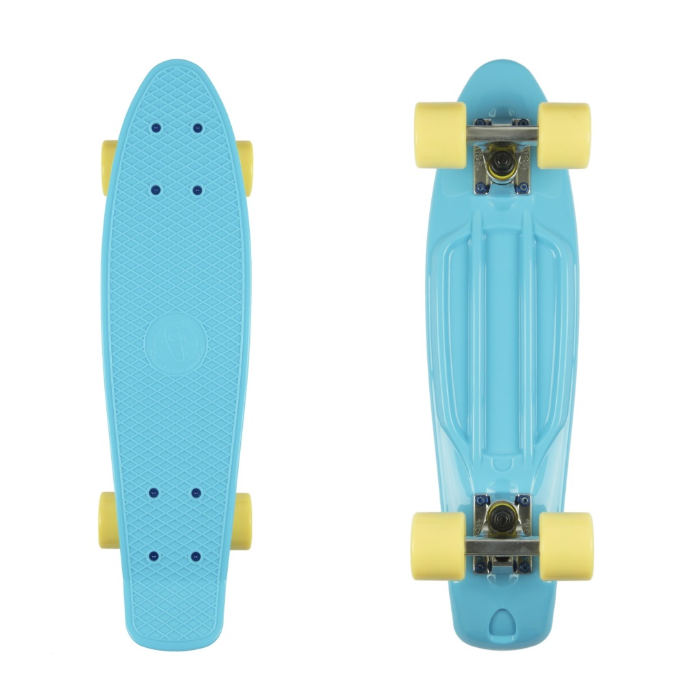 """Penny board Fish Classic 22"""" Summer Blue-Silver-Summer Yellow"""