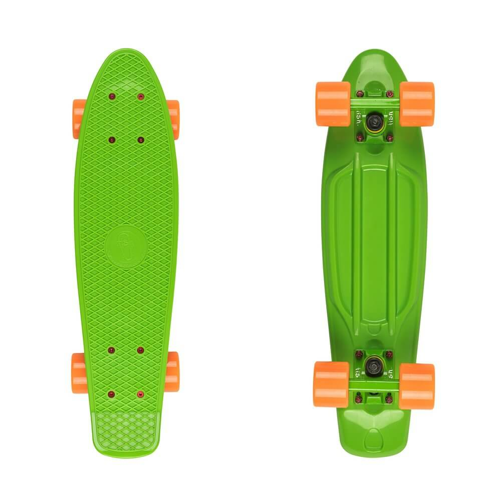"Penny board Fish Classic 22"" Green-Orange"