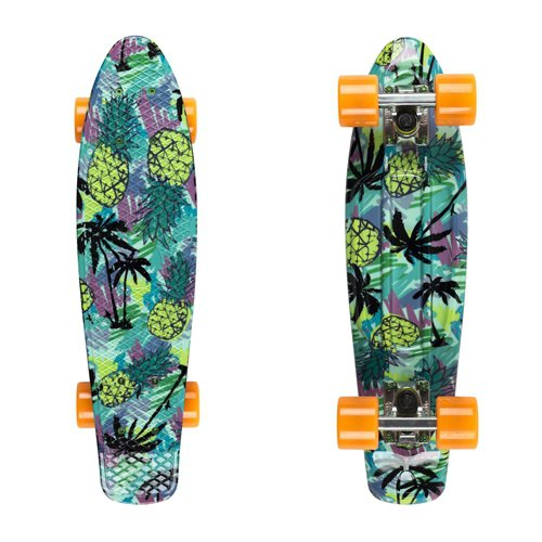 "Penny board Fish Print 22"" pinaple"