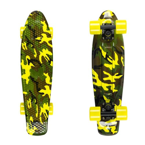 "Penny board Fish Print 22"" Military"