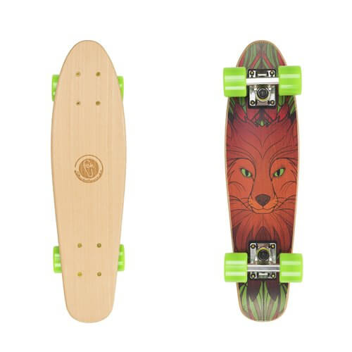"Dřevený penny board Fish Classic Wood 22"" Red Fox"