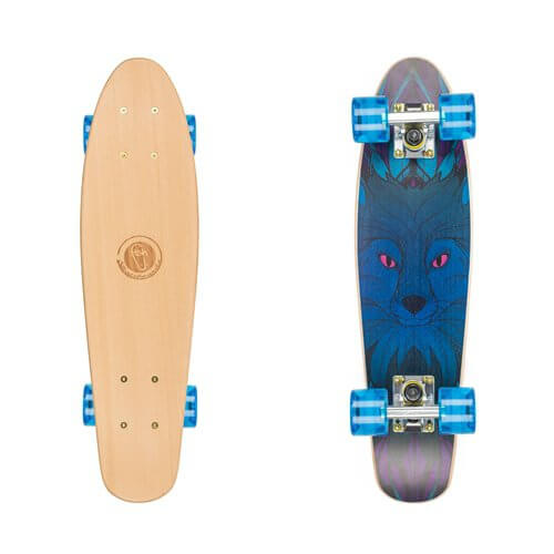 "Dřevený penny board Fish Classic Wood 22"" Blue Fox"