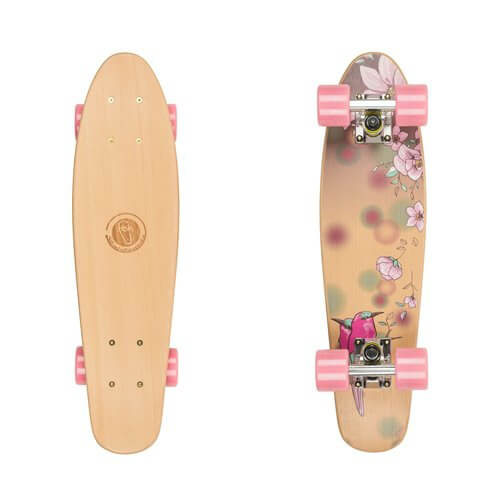 "Penny board Fish Classic Wood 22"" Bird"