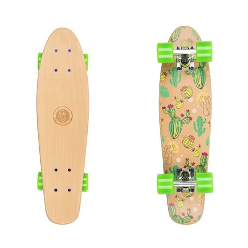 "Penny board Fish Classic Wood 22"" Kaktus"