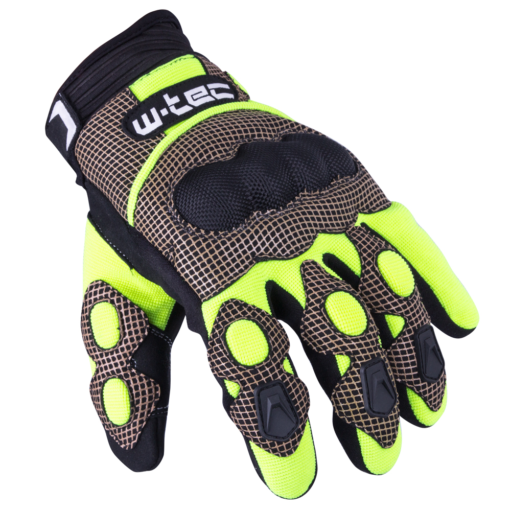 Motokrosové rukavice W-TEC Derex černo-žlutá - S