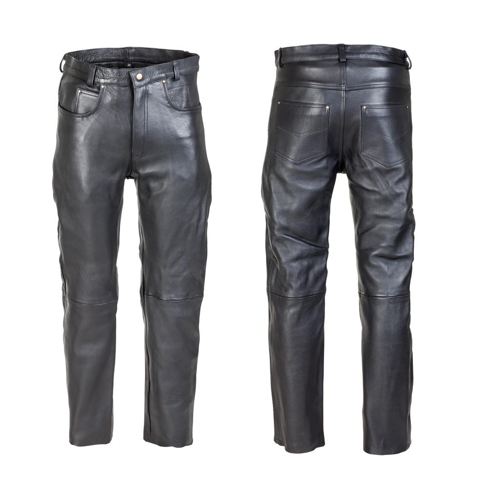 Pánské kožené moto kalhoty W-TEC Roster NF-1250