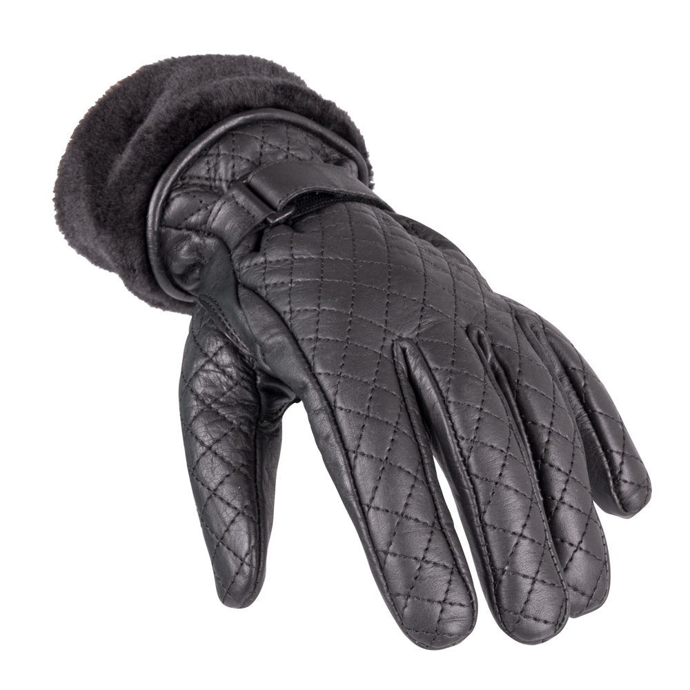Dámské kožené rukavice W-TEC Stolfa NF-4205 černá - S