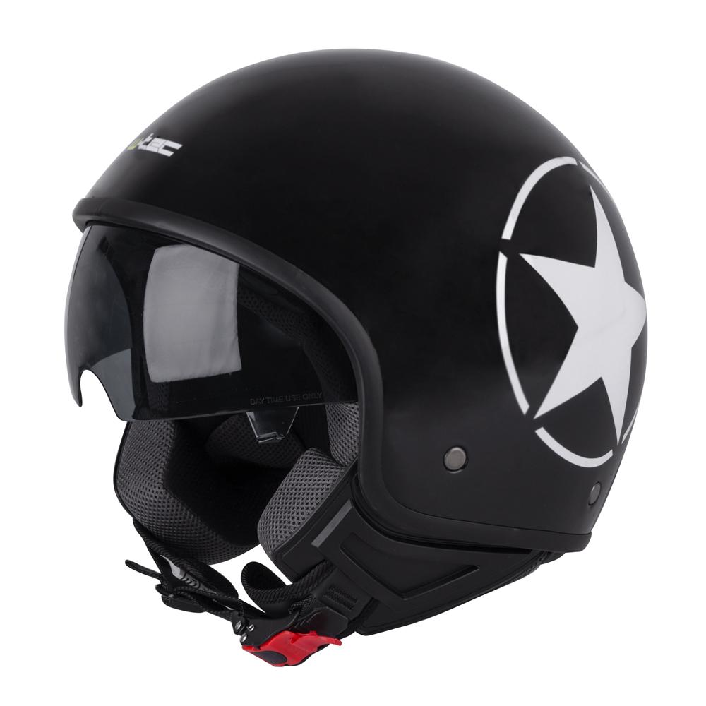 Helma na skútr W-TEC FS-710S Revolt Black Černá s hvězdou - XS (53-54)