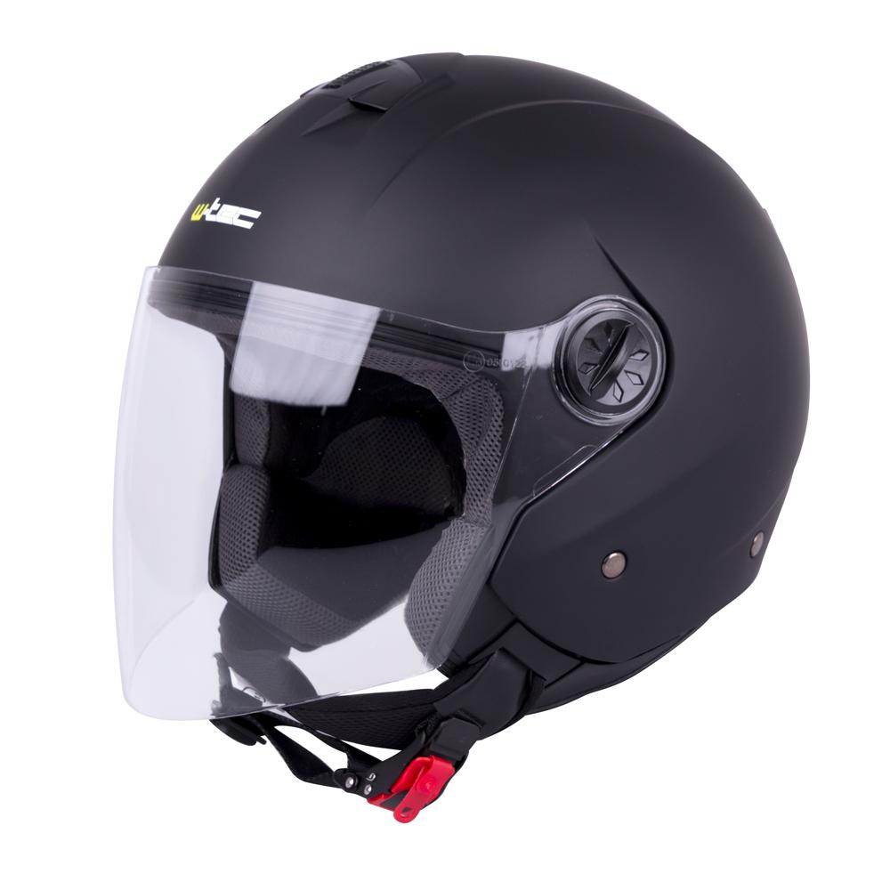 Otevřená helma W-TEC FS-715 Matt Black - L (59-60)