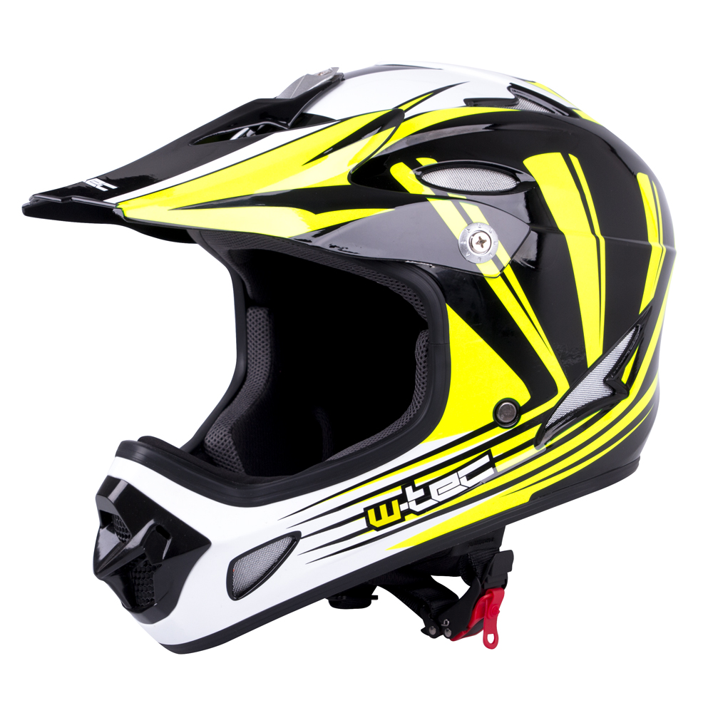 Downhill přilba W-TEC FS-605 Allride Yellow Graphic - S (55-56)