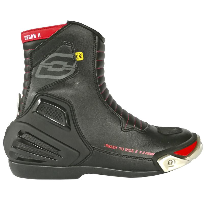 Moto boty Ozone Urban II CE černo-červená - 39