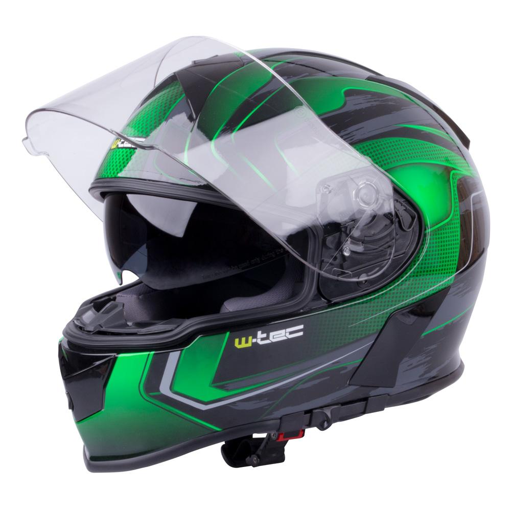Moto přilba W-TEC V126 zelená - XS (53-54)