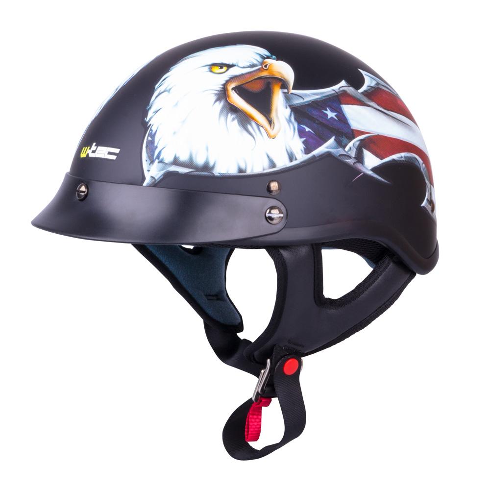 Moto přilba W-TEC V531 černá s orlem - XXL (63)