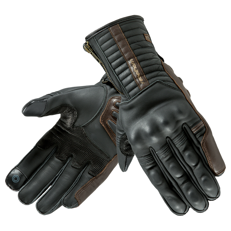 06daf23d6ef Kožené moto rukavice Rebelhorn Opium II Retro CE - černá. Certifikované  moto rukavice