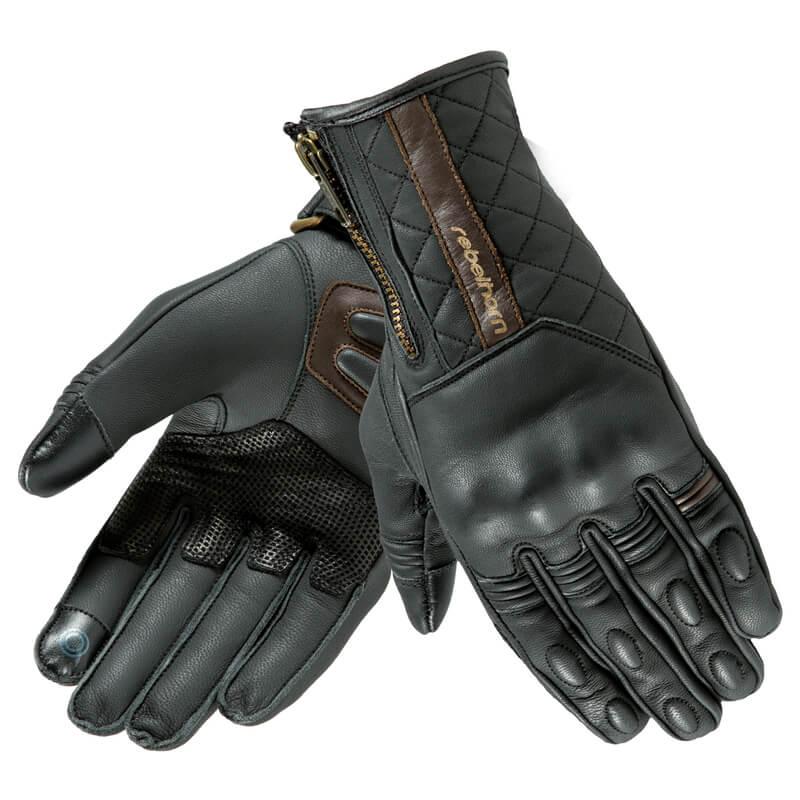 9654f1f985a Kožené moto rukavice Rebelhorn Opium II Retro Lady CE černá - S