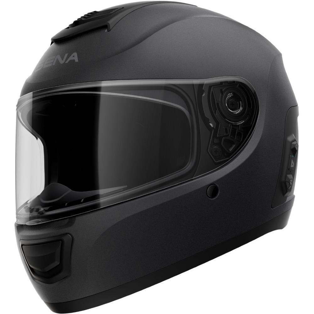 Moto přilba SENA Momentum EVO s integrovaným headsetem matně černá - M (57-58)