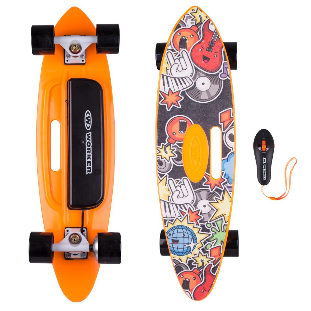 Elektrický longboard WORKER Smuthrider černo-oranžová